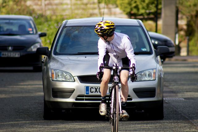 Cyclists! Why do they ride in the middle of the road?