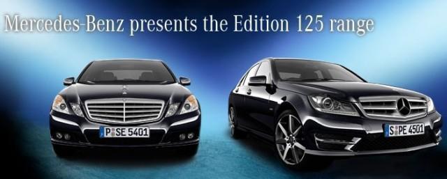 New Mercedes-Benz C & E Class Edition 125