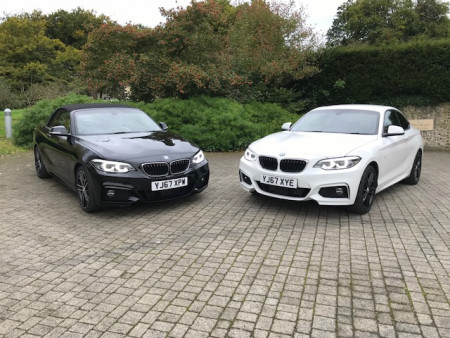 BMW's 230i Convertible takes on the 220d xDrive Coupe