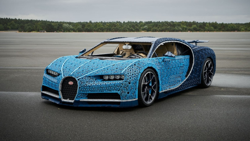 Feast Your Eyes on the Full-Size Drivable Bugatti Chiron Made of LEGO