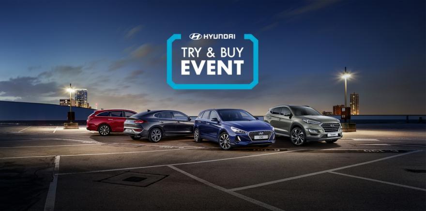 Hyundai Try & Buy Event £1,000 Savings in 2018