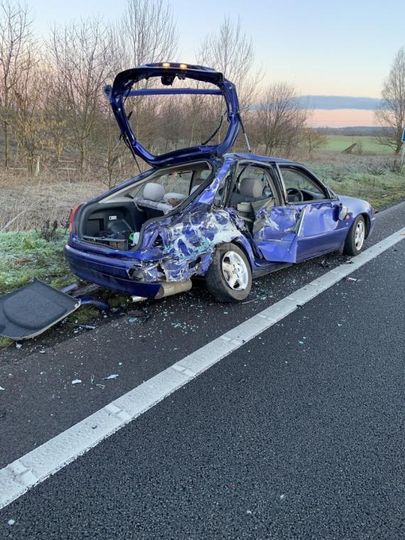 Shocking Crash Picture Shows Danger of Sitting in Broken Down Car Image 0