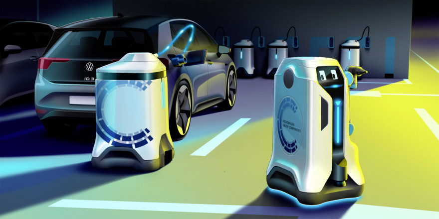 New Robot Roams Car Parks & Recharges Electric Vehicles
