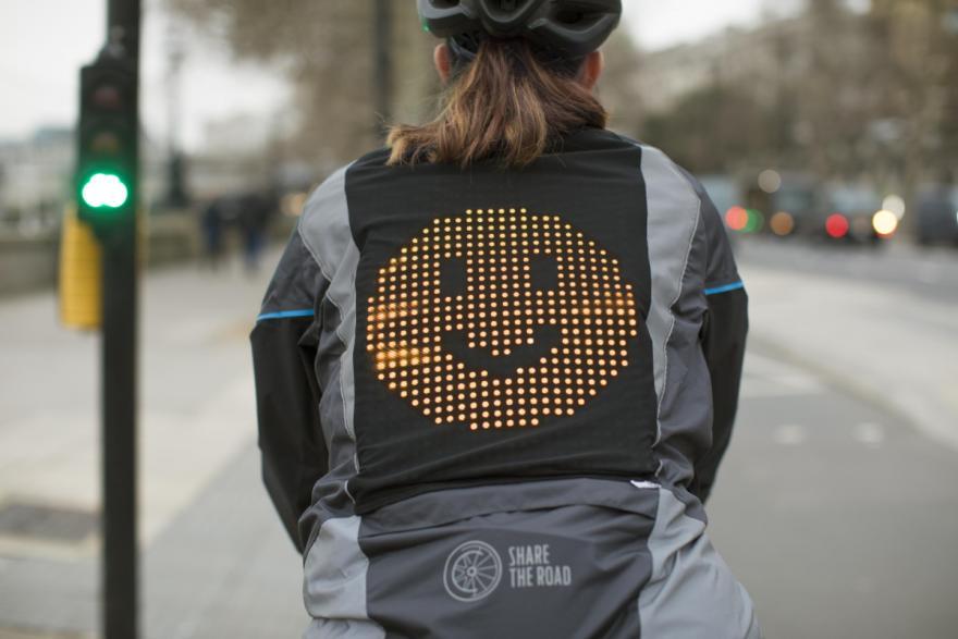 Drivers & Cyclists Communicate via Ford Emoji Jacket: Road Safety