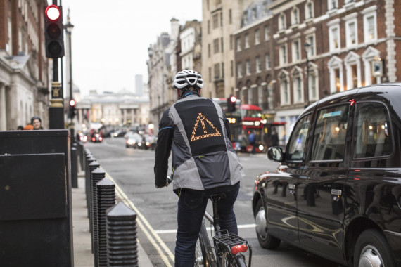Drivers & Cyclists Communicate via Ford Emoji Jacket: Road Safety Image