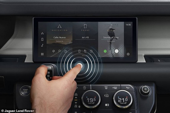 Don't Touch: Jaguar Reveals A Contactless Touchscreen To Tackle Covid-19 Image