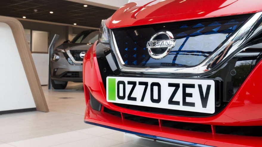 New Green Number Plates For Zero Emission Electric Cars