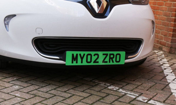 New Green Number Plates For Zero Emission Electric Cars Image