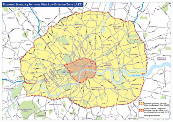 London's Ultra Low Emission Zone is Expanding