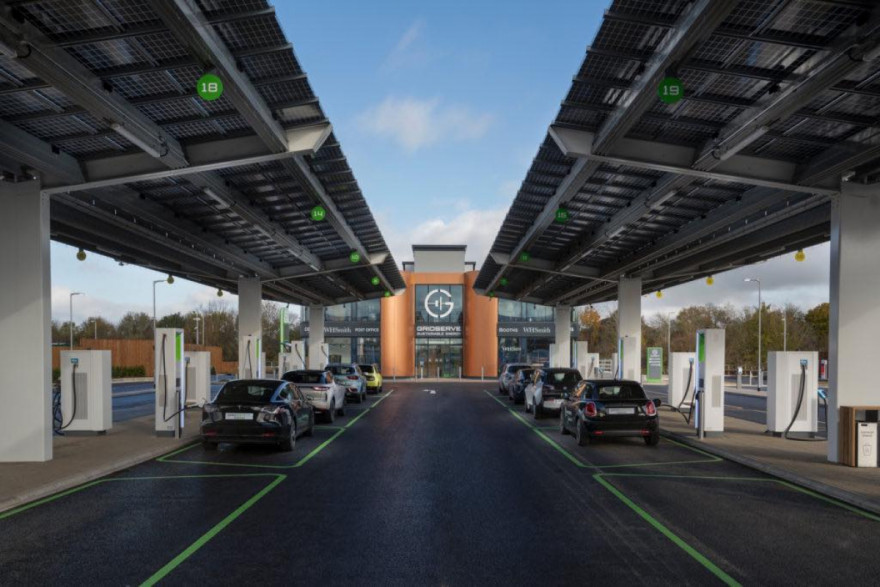UK's first electric vehicle forecourt opens in Essex