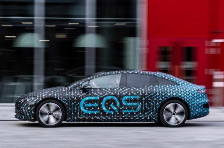 Mercedes-Benz EQS spy shots: Exterior teased