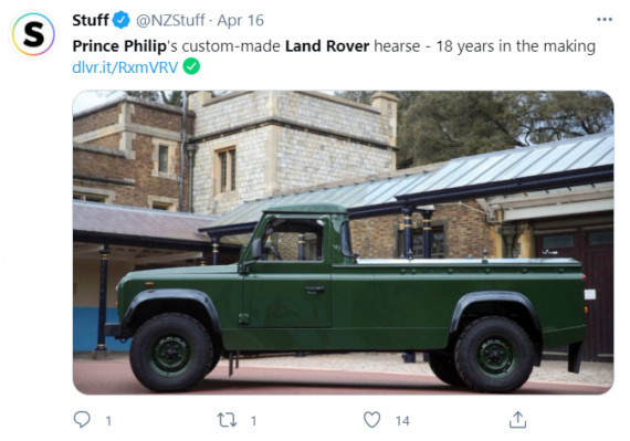Prince Philip's funeral procession featured a Land Rover, Bentley and a couple of Rolls-Royces  Image